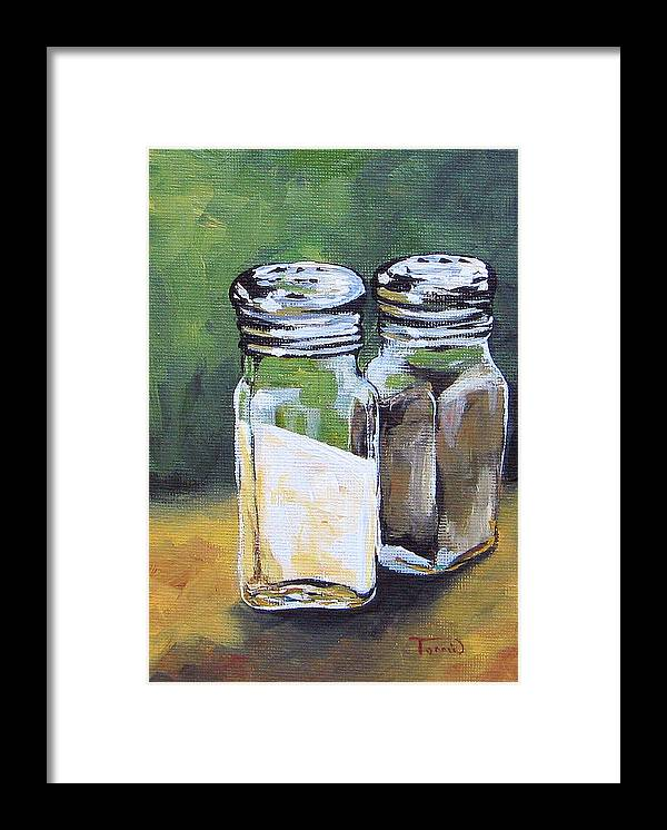 Salt Framed Print featuring the painting Salt And Pepper I by Torrie Smiley