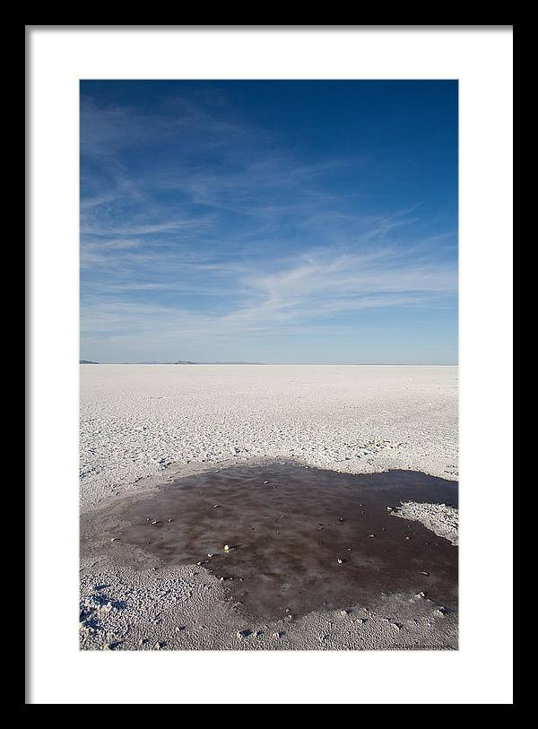 U.s.a. Framed Print featuring the photograph Salt Flats by Luigi Barbano BARBANO LLC