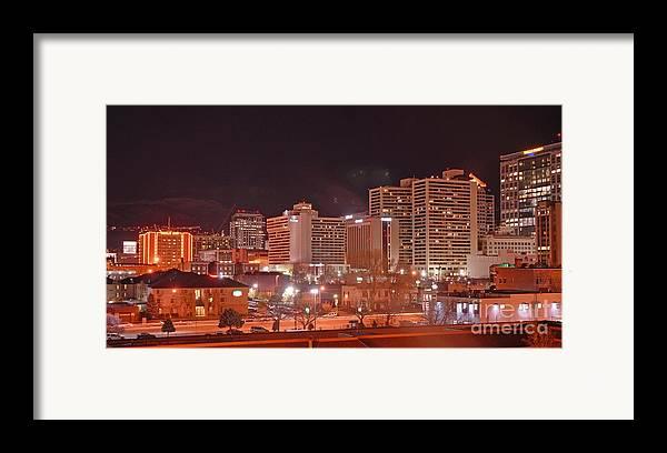 Salt Lake City Framed Print featuring the photograph Salt Lake City Utah by Dennis Hammer