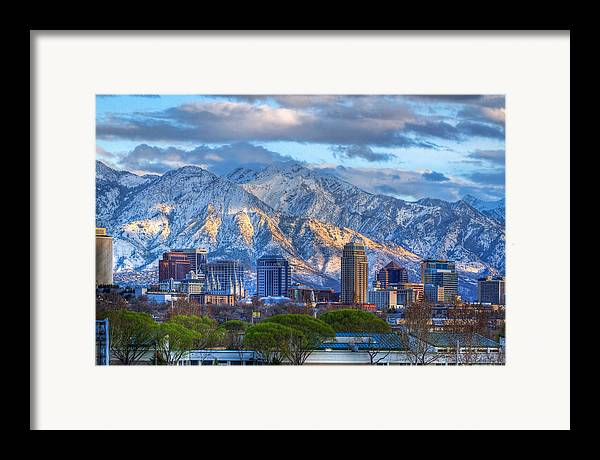 Salt Framed Print featuring the photograph Salt Lake City Utah Usa by Utah Images