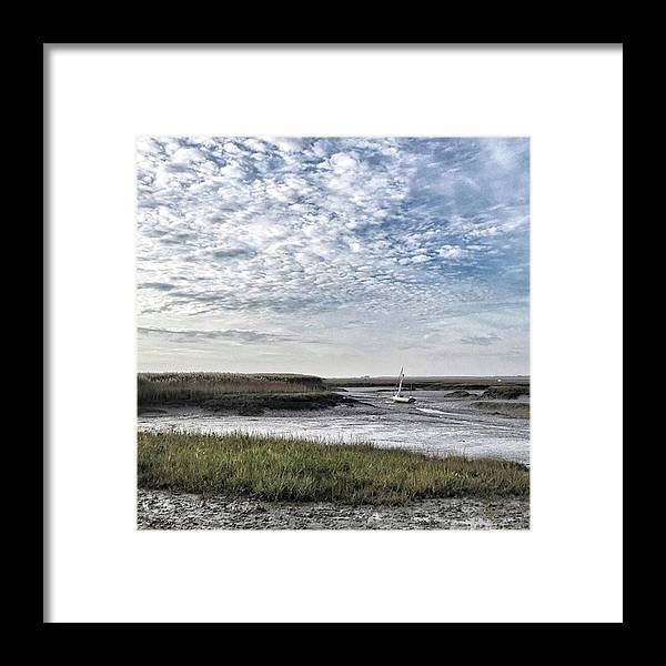 Beautiful Framed Print featuring the photograph Salt Marsh And Creek, Brancaster by John Edwards