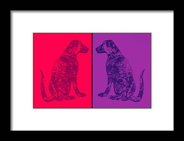 Salty Dog Framed Print featuring the painting Salty Dogs by Barry Knauff