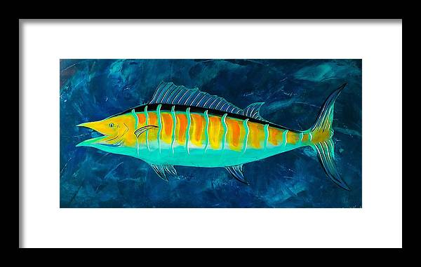 Salty Wahoo Framed Print featuring the painting Salty Wahoo by Barry Knauff