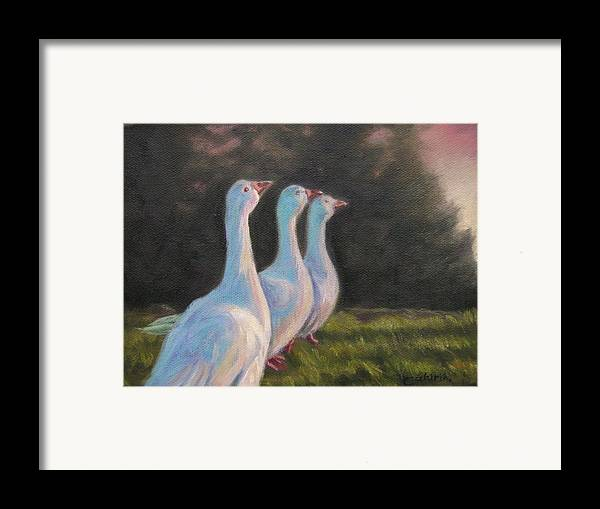 Animals Framed Print featuring the painting Salutation To The Sun by Tahirih Goffic