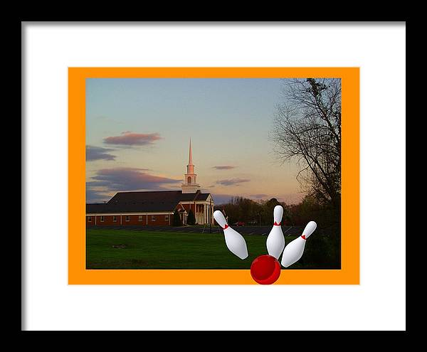 Church Framed Print featuring the mixed media Salvation Games by Lee M Plate