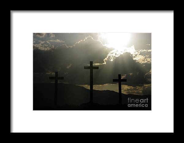 Crosses Framed Print featuring the photograph Salvation by Kenneth Hess