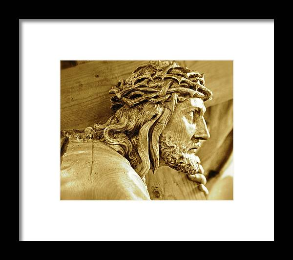 Jesus Framed Print featuring the photograph Salvation by Lori Leigh
