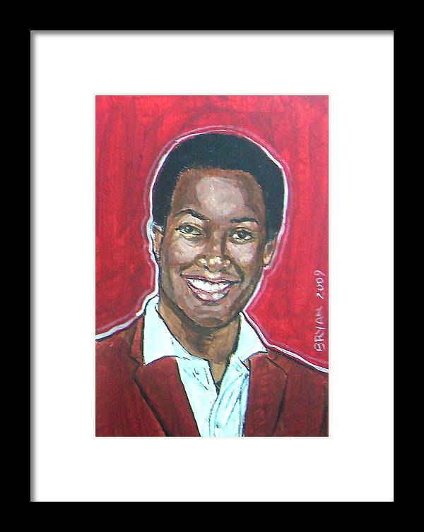 Sam Cooke Framed Print featuring the painting Sam Cooke by Bryan Bustard