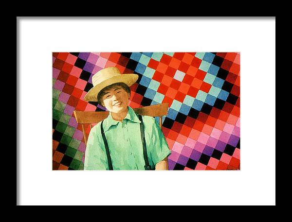 Amish Framed Print featuring the painting Sam by Faye Ziegler