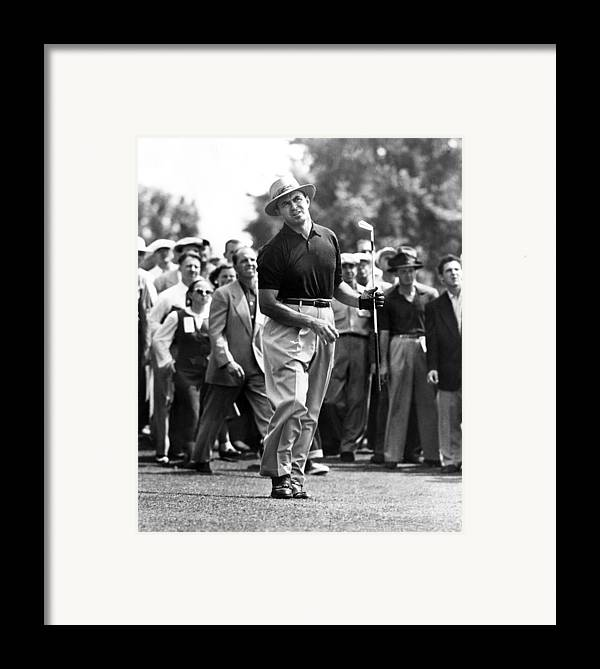 1950s Candids Framed Print featuring the photograph Sam Snead 1912-2002, American Golfer by Everett