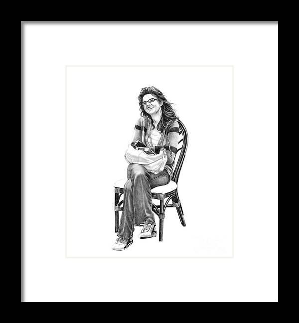 Figure Drawing Framed Print featuring the drawing Samantha Jonice Elliott by Murphy Elliott