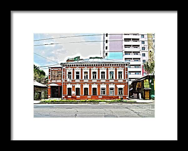 Russia Framed Print featuring the digital art Samara Houses by Alessandro Cini