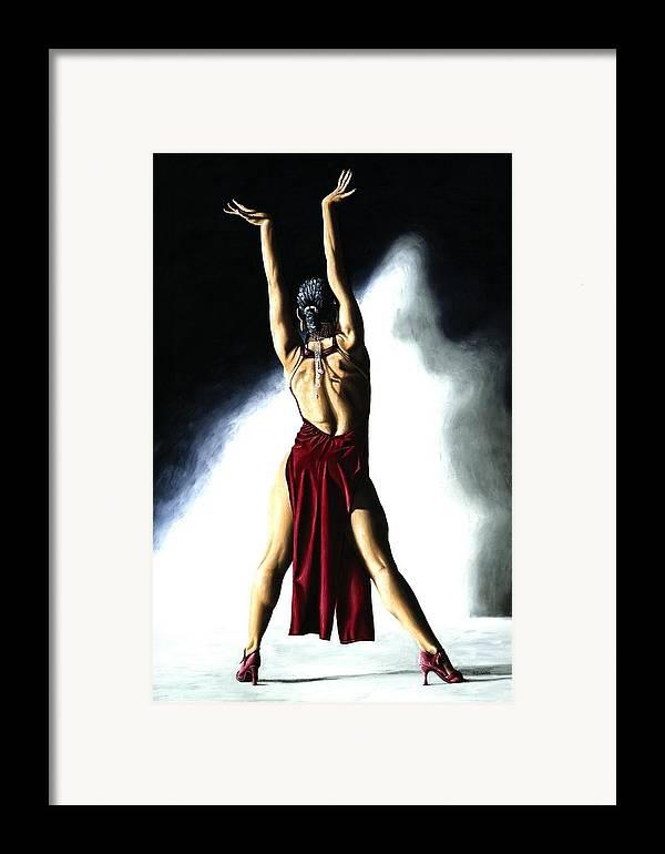 Samba Framed Print featuring the painting Samba Celebration by Richard Young