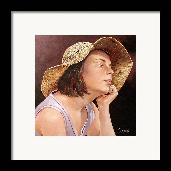 Portrait Framed Print featuring the painting Sammie by Jerrold Carton