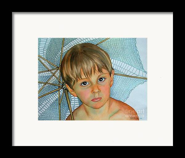 Portrait Framed Print featuring the painting Sammy by Gail Zavala
