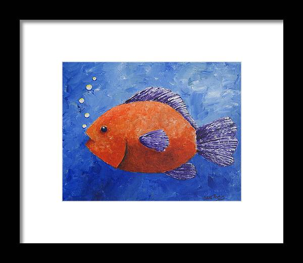 Fish Framed Print featuring the painting Sammy by Suzanne Theis