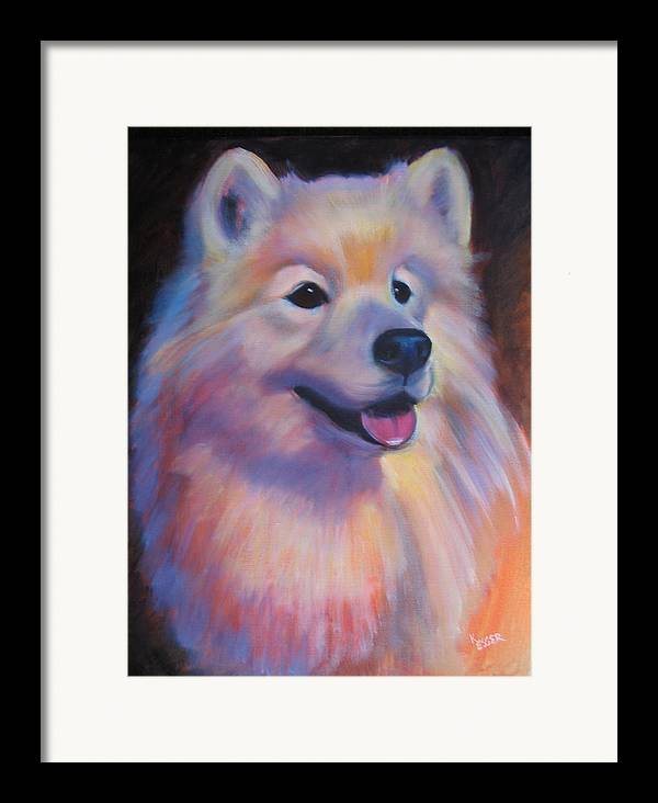 Samoyed Painting Framed Print featuring the painting Samoyed by Kaytee Esser