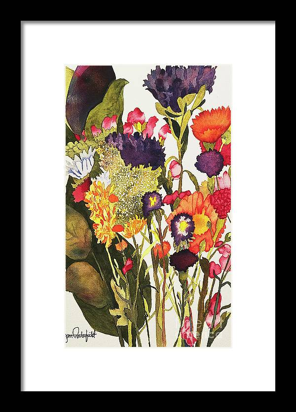 Flower Framed Print featuring the painting Sam's Flowers by Jeff Friedman