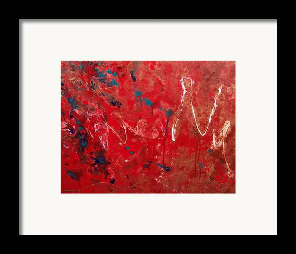 Abstract Framed Print featuring the painting Samuel by Jess Thorsen