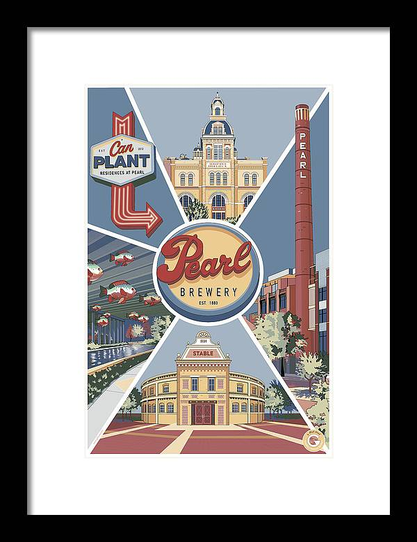 Pearl Brewery Framed Print featuring the digital art San Antonio's Pearl by Matt Hood
