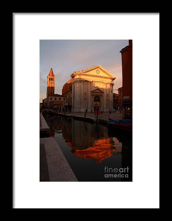 Venikce Framed Print featuring the photograph San Barnaba by Michael Henderson