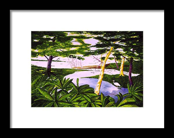 Seascape Framed Print featuring the painting San Blas Jungle by Buster Dight