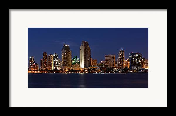 San Diego Framed Print featuring the photograph San Diego America's Finest City by Larry Marshall