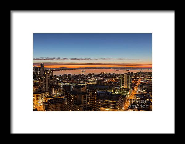 San Francisco Framed Print featuring the photograph San Francisco Bay Early Morning Glow by Trekkerimages Photography