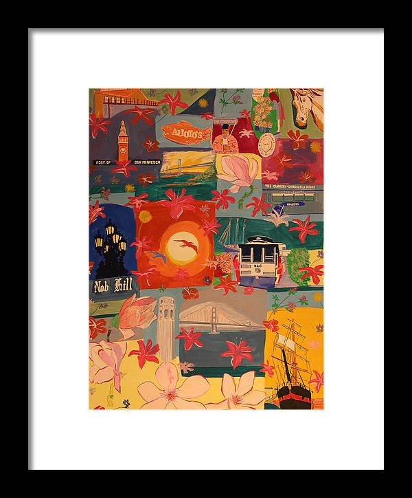 Framed Print featuring the painting San Francisco by Biagio Civale