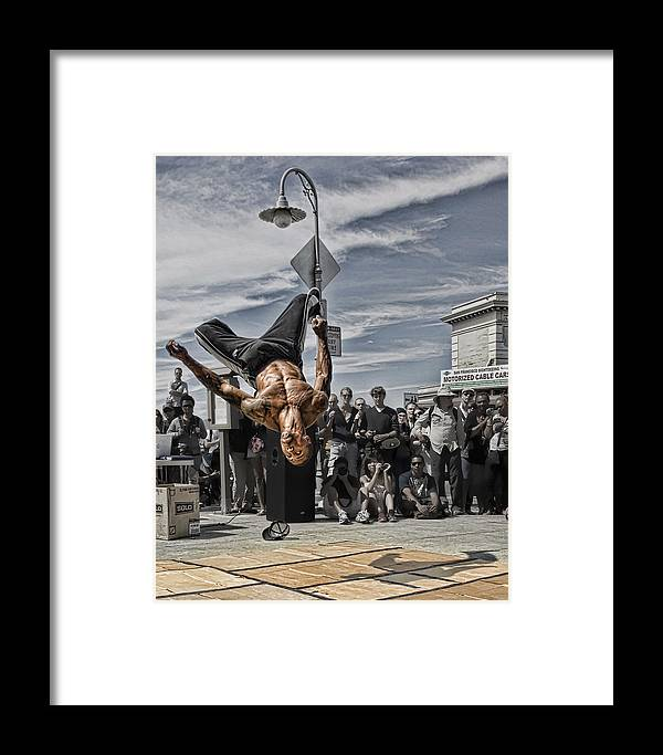 Break Dancer Framed Print featuring the photograph San Francisco Breakdancer by Rich Beer