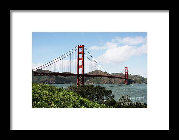 United States Framed Print featuring the photograph San Francisco Bridge by Alisha Robertson