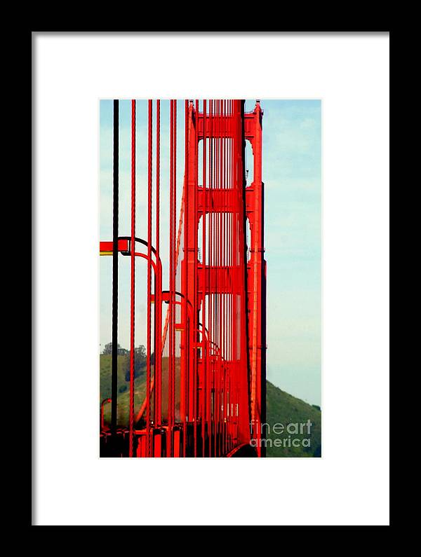 America Framed Print featuring the photograph San Francisco Golden Gate Bridge Symphony In California by Michael Hoard
