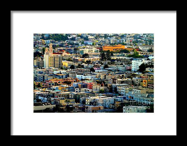 Michael Joseph Hoard Photos Framed Print featuring the photograph San Francisco California Scenic Rooftop Landscape by Michael Hoard