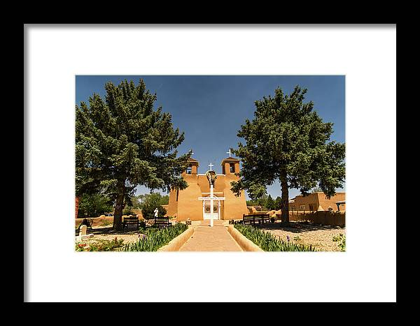 New Mexico Framed Print featuring the photograph San Francisco De Assisi Mission Church Taos New Mexico 2 by Lawrence S Richardson Jr
