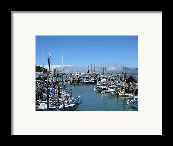 Water Framed Print featuring the photograph San Francisco Fishing Fleet by Jerry Patchin