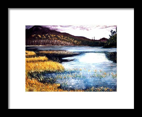 Landscape Framed Print featuring the painting San Gabriel II by Jack Spath