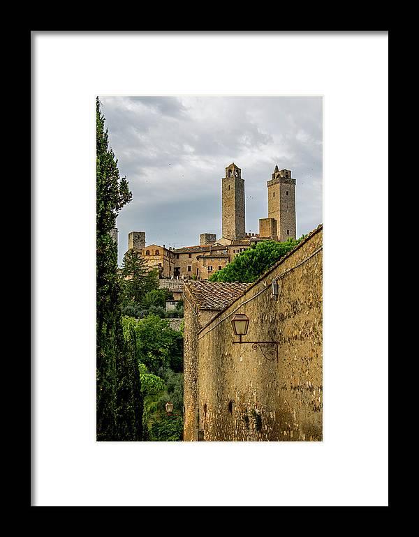 San Gimignano Framed Print featuring the photograph San Gimignano by Jean Haynes