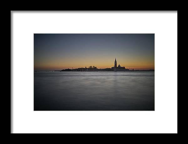 Venice Framed Print featuring the photograph San Giorgio Sunset 0933 by Marco Missiaja