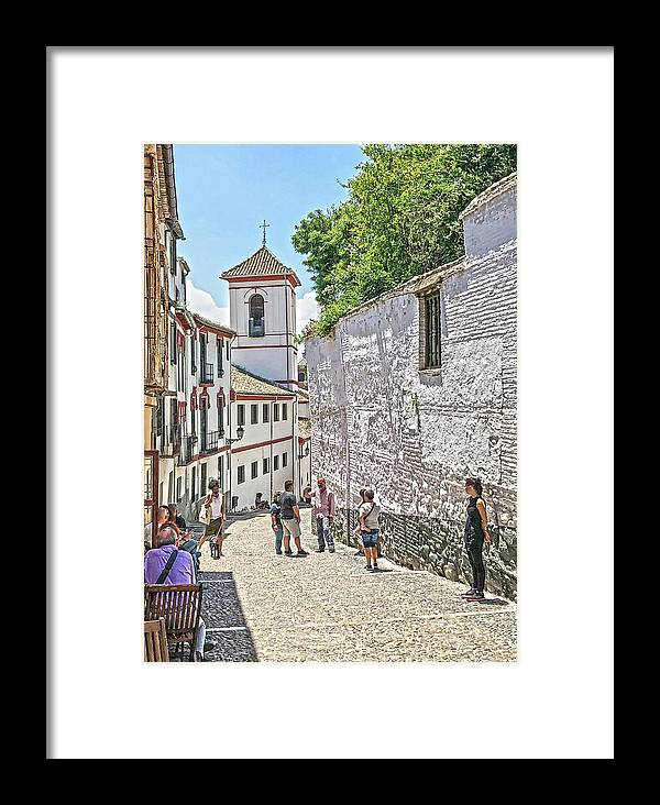 Church Framed Print featuring the photograph San Gregorio Granada by Digby Merry
