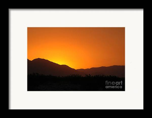 Sunset Framed Print featuring the photograph San Jacinto Dusk Near Palm Springs by Michael Ziegler