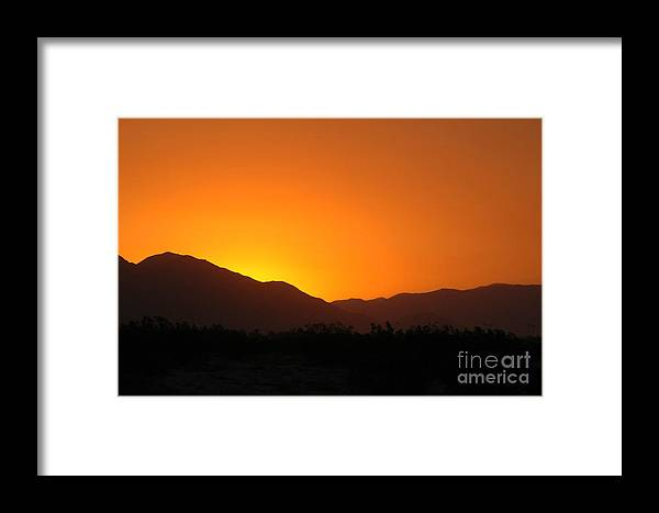 Sunset Framed Print featuring the photograph San Jacinto Dusk Near Palm Springs by Michael Ziegler