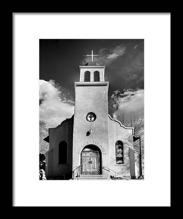 San Framed Print featuring the photograph San Jose, Cerrillos, New Mexico, March 11, 2017 by Mark Goebel
