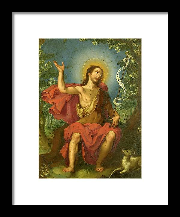 Religious Framed Print featuring the painting San Juan Bautista by Unknown