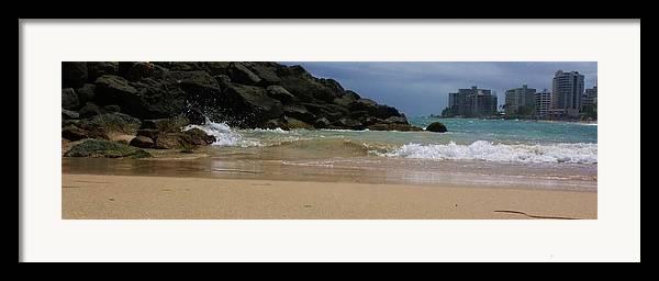 San Juan Framed Print featuring the photograph San Juan Beach 7 by Anna Villarreal Garbis