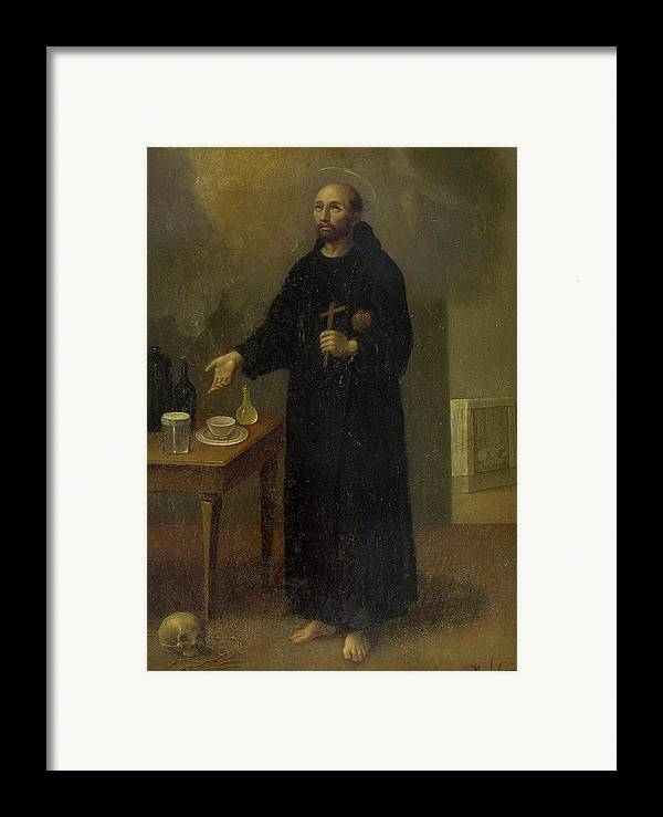 Religion Framed Print featuring the painting San Juan De Dios by Manuel Caro