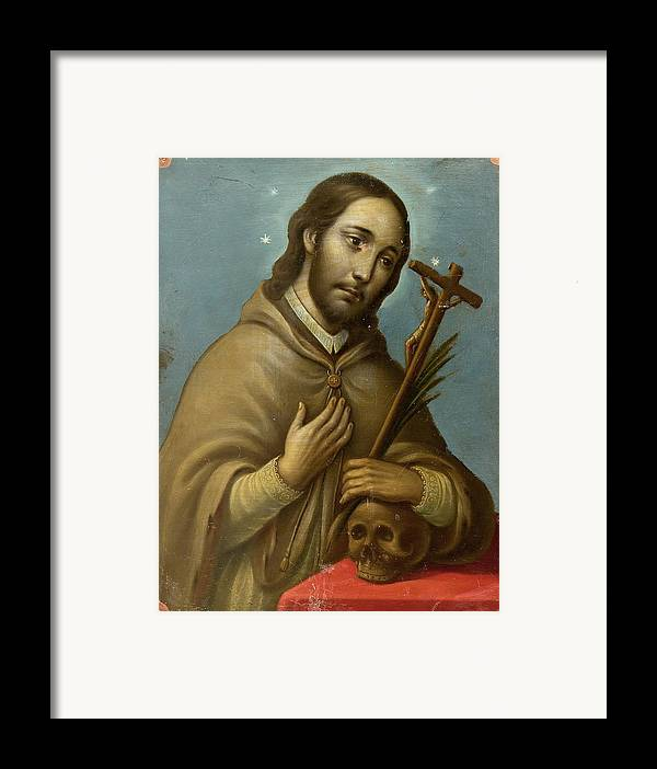 Religion Framed Print featuring the painting San Juan Nepomuceno by Unknown
