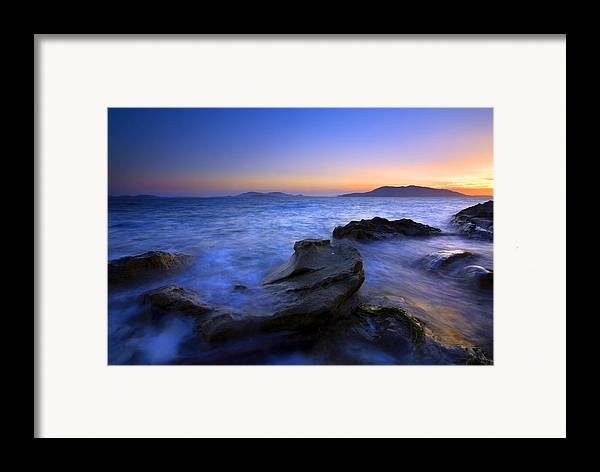 Sunset Framed Print featuring the photograph San Juan Sunset by Mike Dawson
