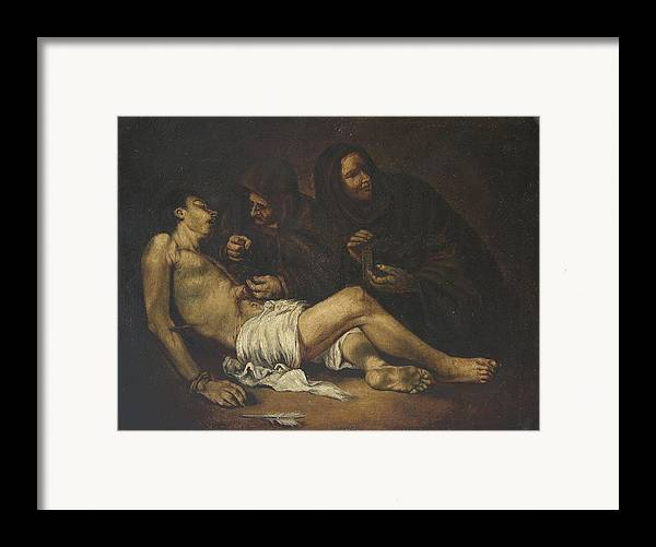 Religion Framed Print featuring the painting San Sebastian by Unknown