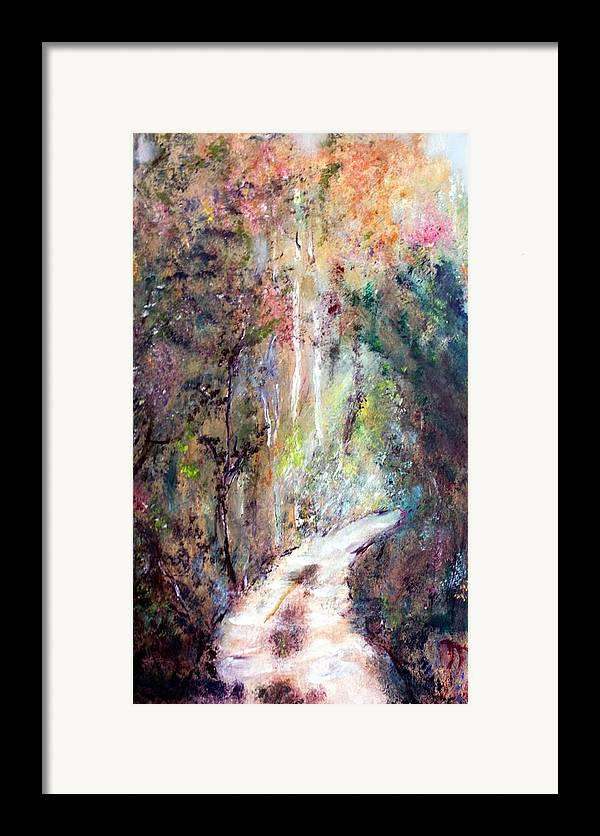 Landscape Framed Print featuring the painting Sanctuary by Michela Akers