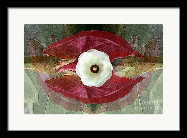 Abstract Framed Print featuring the digital art Sanctuary by Tom Romeo